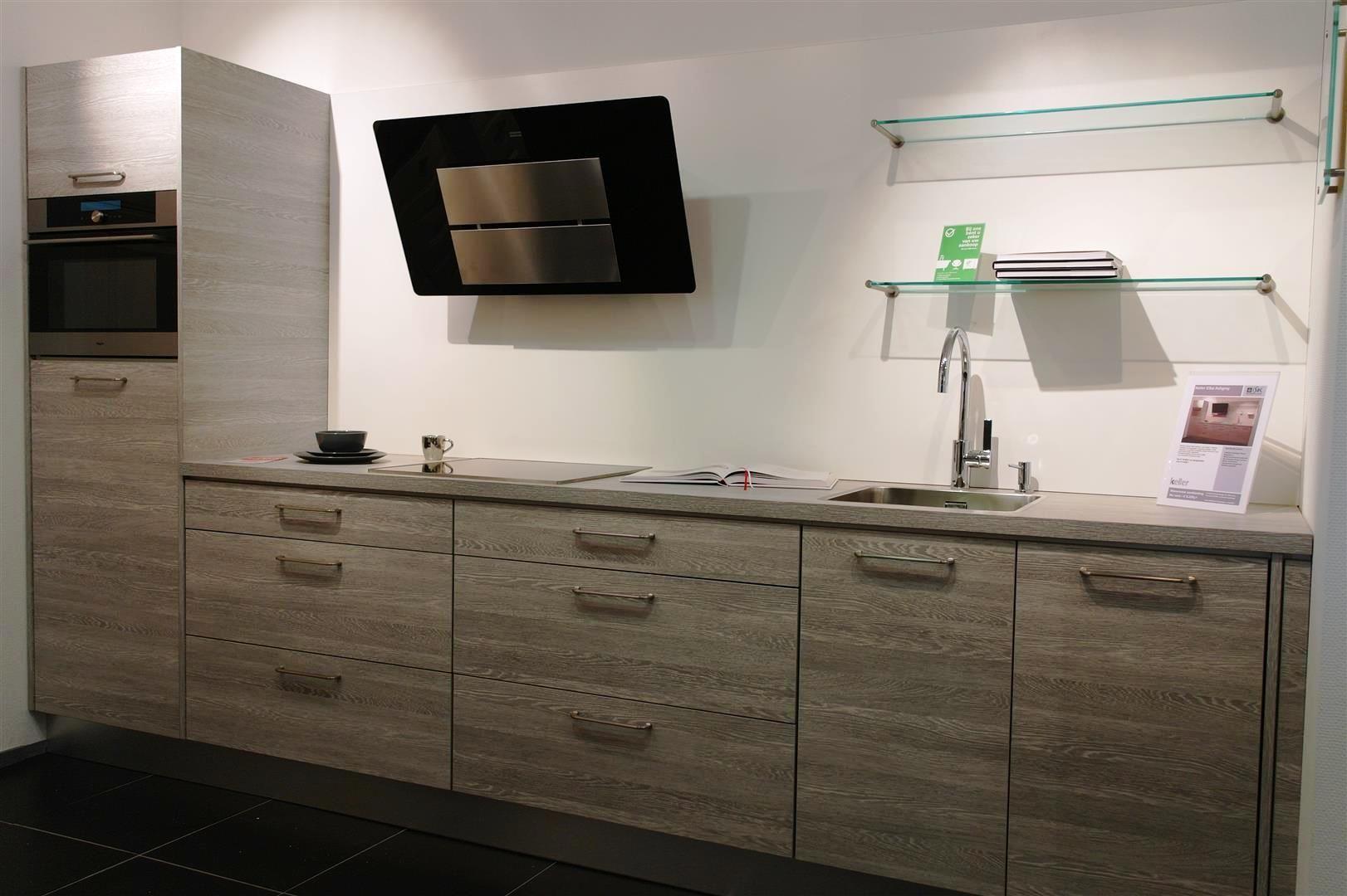 Moderne Rechte Keuken Houtkleur : Showroomkorting.nl De voordeligste ...